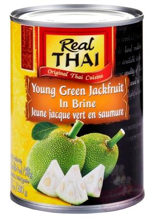 Młody zielony jackfruit w słonej zalewie 565g - Real Thai