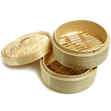 Parowar bambusowy okrągły - 2 sitka, śr. 20cm