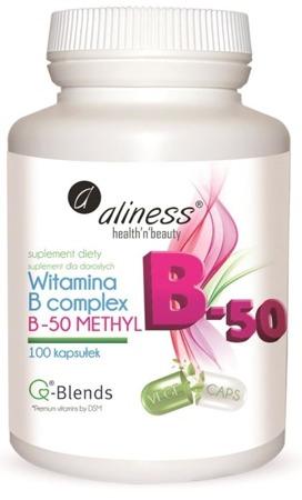 Witamina B complex B-50 B50 Methyl 100 kapsułek
